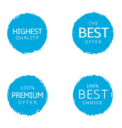 Best offer labels vector