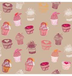 Cupcakes Pattern vector image vector image