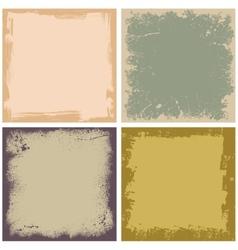 Four grunge frames vector image vector image