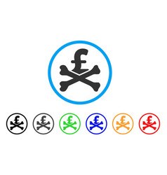 mortal pound debt rounded icon vector image vector image