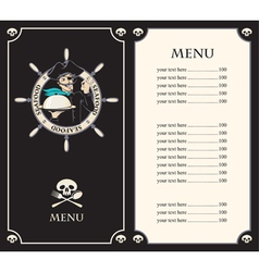 pirate menu vector image vector image