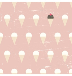seamless ice cream vintage distressed pattern vector image vector image