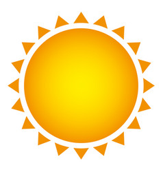 yellow beautiful sun abstract icon vector image vector image
