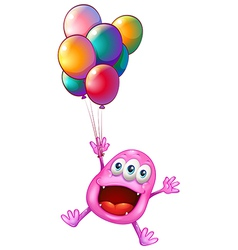 A happy monster with balloons vector image