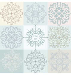Classic Vintage Ornaments Pattern set vector image