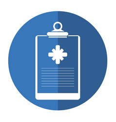clipboard medical report clinic shadow vector image