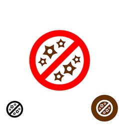 No allergy sign vector image