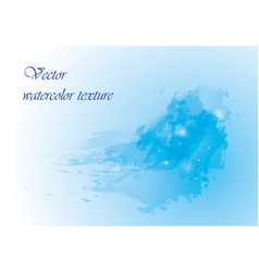 watercolor background in blue color vector image