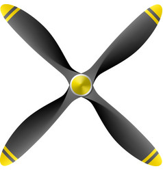 Airplane propeller vector image vector image