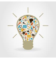 Art a bulb vector image vector image