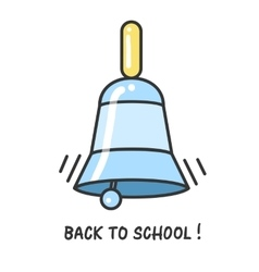 Back to school logo with a bell vector image vector image
