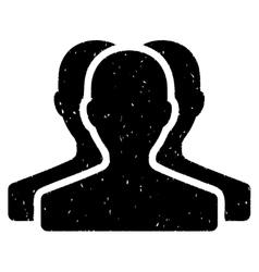 Customer group grainy texture icon vector
