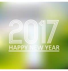 happy new year 2017 on blur abstract background vector image