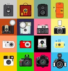 History of Camera vector image vector image