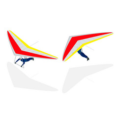 isometric hang glider soaring the thermal updrafts vector image vector image