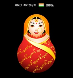 Matryoshka Indian girl vector image vector image