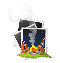 photoframes and native american indians vector image vector image