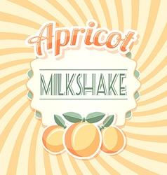Apricot milkshake vector image