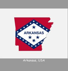Arkansas usa map flag vector