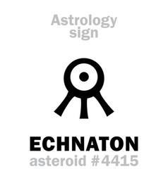 Astrology asteroid echnaton akhenaten vector