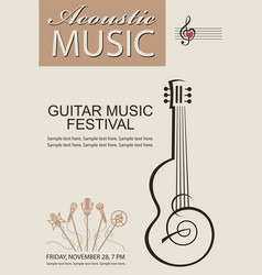 banner with guitar vector image