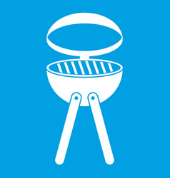 barbecue grill icon white vector image