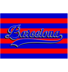 Barcelona typography sports graphic vector