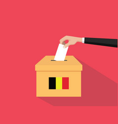 Belgium election vote concept with vector
