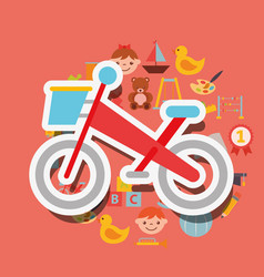 Bike small sport toy background vector