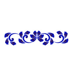 Blue and white flower element vector