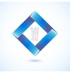 Blue square shape on white background vector image