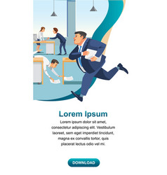 business time management and productivity vector image