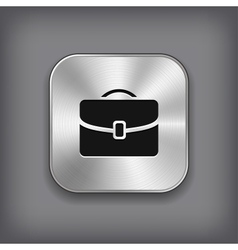 Case icon - metal app button vector image