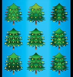 christmas decorative tree symbol design vector image