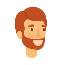 Colorful silhouette of man face with red hair and vector