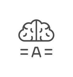 copywriting brainstorm line icon vector image