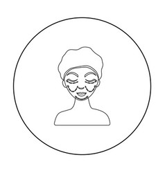 Cosmetic plastic surgery icon in outline style vector