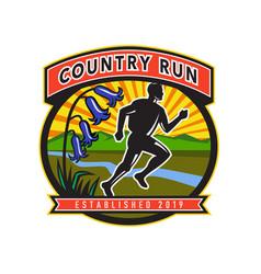 Country marathon run icon vector