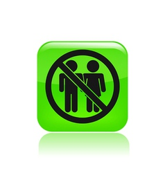 Couple banned icon vector