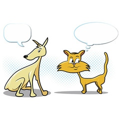 Dog and Cat Cartoon vector image