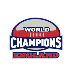 England rugby champions vector