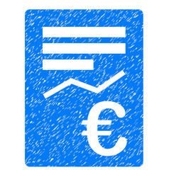 Euro report icon grunge watermark vector
