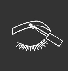 Eyebrows mascara chalk icon vector