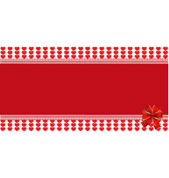 festive wrapped template with ribbon on striped vector image