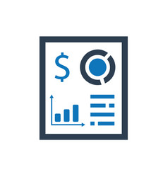 Fiinancial report icon vector