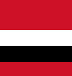 flag in colors of yemen image vector image