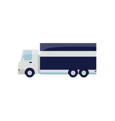 flat delivery truck for cargo freight isolated on vector image