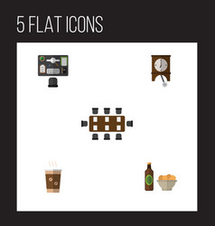 flat icon lifestyle set of boardroom beer with vector image