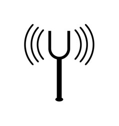 Fork tuning icon vector