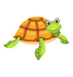 Funny turtle icon cartoon style vector